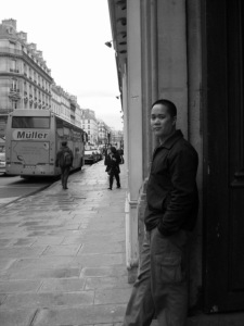 On the streets of Paris, 2003.