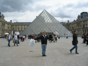 Me, at the Louvre